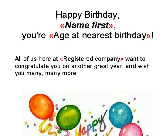 Birthday Reminder Letter Templates – Reminder Note Sample
