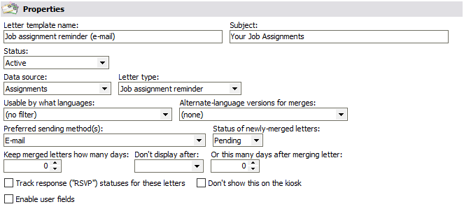assignment reminder letter templates
