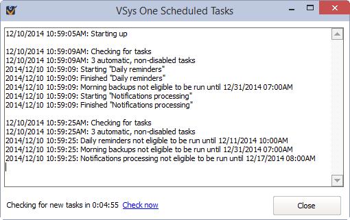 Running Scheduled Tasks and Task Groups